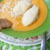 Овощной суп-пюре с манными клецками