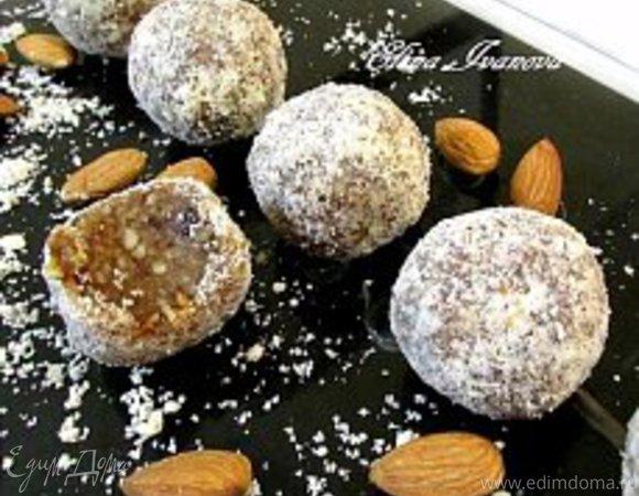 Имбирные конфеты с финиками и миндалем