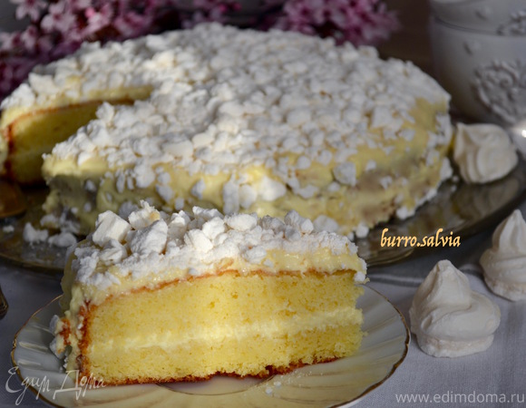 Итальянский лимонный торт «Меренгата»