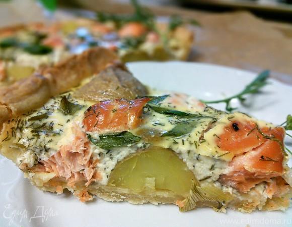 Тарт с лососем и картофелем