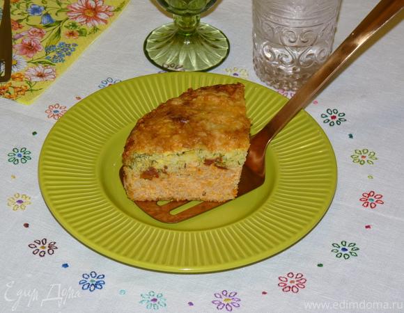 Двухслойный икорный пирог с рисом