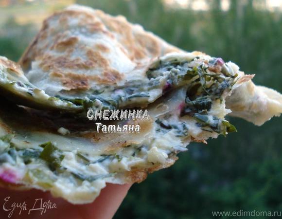 Заварные лепешки с сыром и зеленью