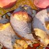 Запеченная телятина с вином и персиками
