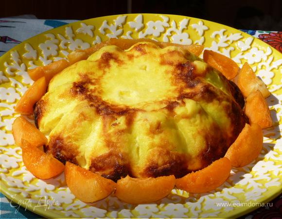 Творожная запеканка-суфле с абрикосами