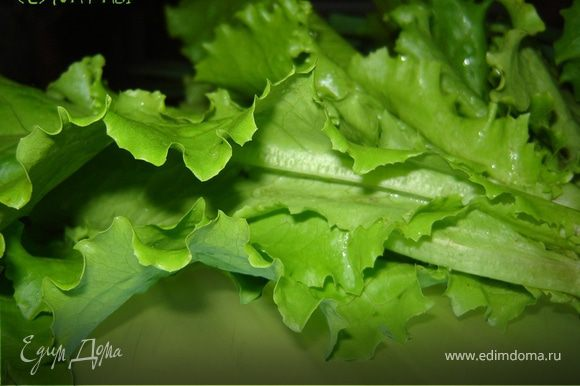 Соедините огурец, перец, морковь,сыр и соевые ростки.Залейте смесь томатным кетчупом и тщательно перемешайте.Салатные листья промойте в проточной воде и дайте воде стечь. Сухие листья порвите руками на кусочки.