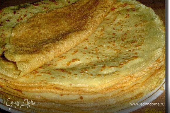 Готовим блинчики по этому рецепту - http://www.edimdoma.ru/recipes/18860