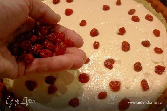 Вымытую и подсушеную вишню распредилить равномерно по поверхности пирога. Выпекать 1ч 15мин. Открыть дверцу и дать пирогу медленно остыть не вынимая его из духовки. Если хотите посыпьте сахарной пудрой.