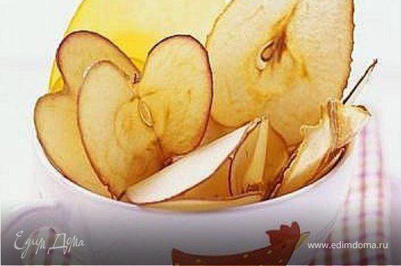яблочные чипсы... мои любимые)