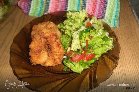 Выложить на салфетку, чтобы стек лишний жир. Приятного аппетита!