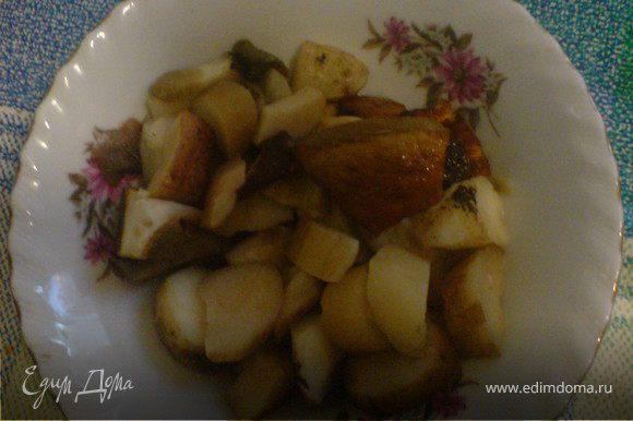 для соуса грибы нарезать