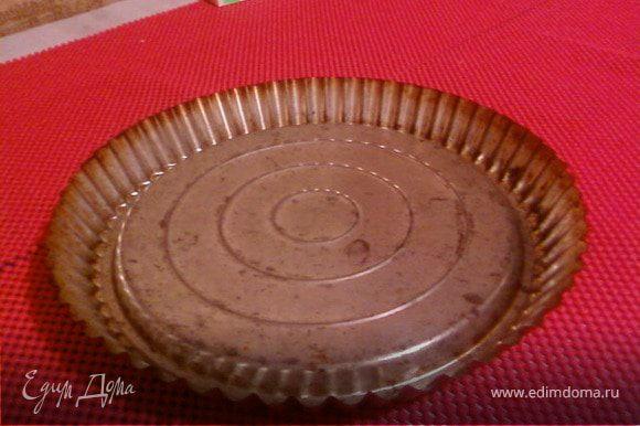Форма для фруктового тортика.Вид со стороны куда выливать тесто.