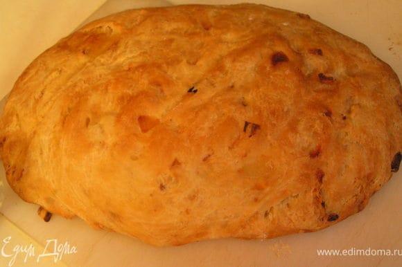Духовку разогреть до 200гр. и выпекать хлеб 30(максимум 35 ) минут,досать хлебушек из духовки накрыть бумажным полотенцем и дать отдохнуть часик