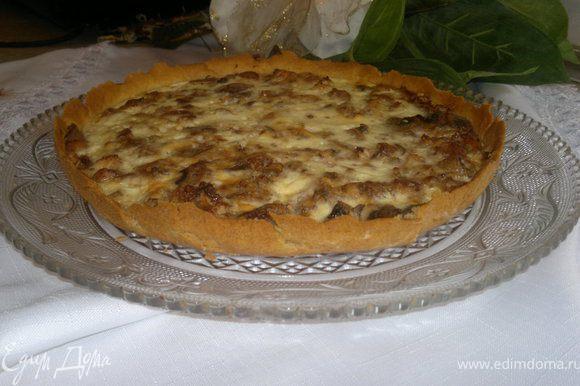 Наконец-то!! Пирог готов,очень вкусный,нежный,ароматный)))))Приятного всем апетита)))))