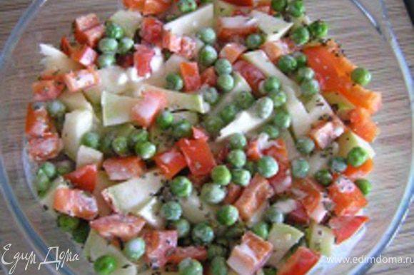 Повторить овощные слои.