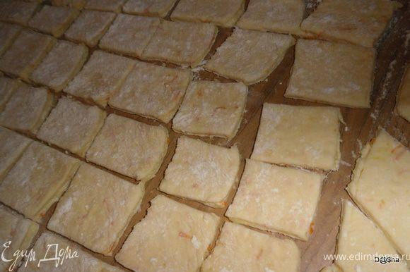 Разрезать на квадраты.