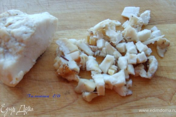 Жир порезать небольшими кубиками