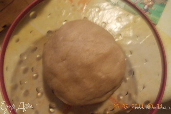 всё смешать, замесить тесто и поставить его в холодильник на 30 минут