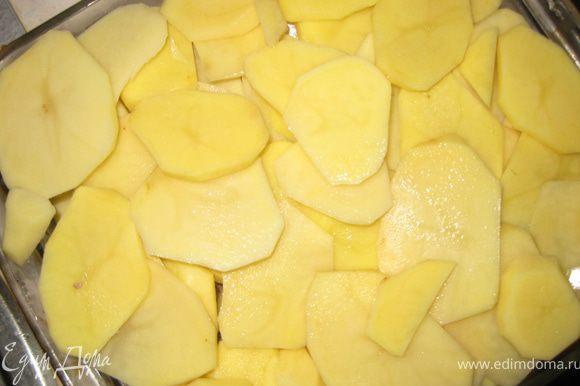 Накрываем сверху слоями из картофеля.