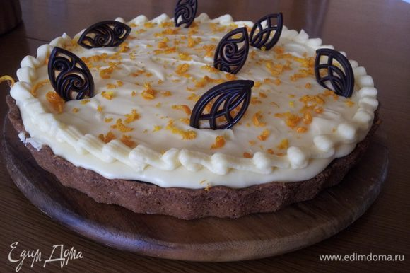 Украсить по желанию. Пирог очень, очень вкусный!!!! Попробуйте!!!
