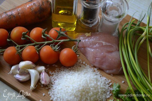"""Начнем, как говориться, издалека. Сварим рис, у меня """"италика"""", на половину стакана риса - стакан воды, соль, немного сухого карри. Варим морковь, я запек в микроволновой печи - 5 минут на самом мощном режиме. Остужаем, чистим."""