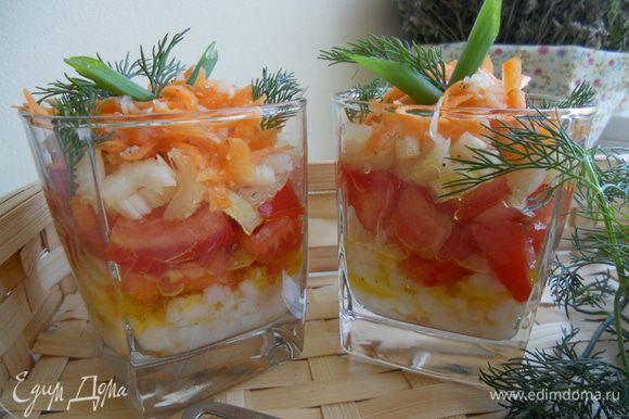 Украшаем перьями зеленого лука,укропом. Включайте свою фантазию,естетические и гастрономические вкусы и смело експериментируйте!!! Приятного аппетита!!!