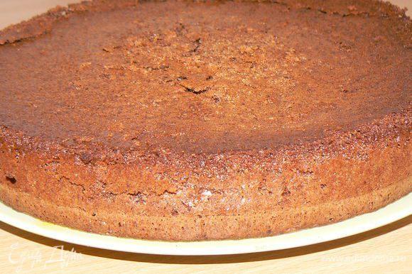 Смажьте разъемную форму для выпекания сливочным маслом -Посыпьте мукой -Выпекайте в духовке, при температуре 180-200 гр ,примерно 30 минут