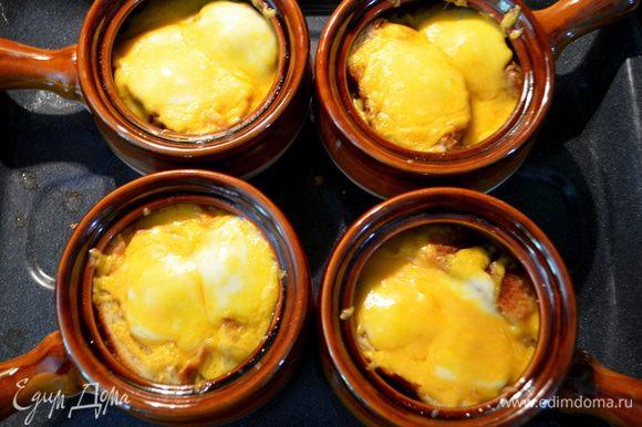 Ставим в бройлер или в духовку и как сыр расплавится достаем из духовки.