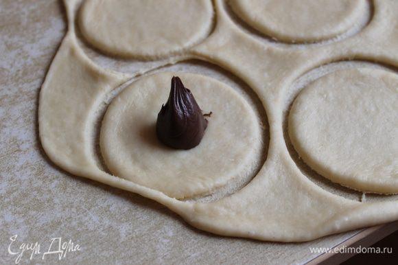можно с начинкой..например шоколадная паста..