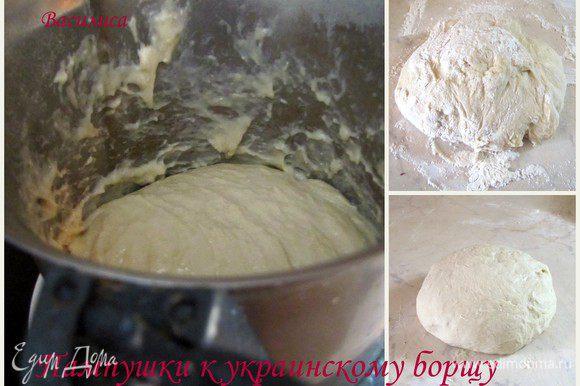 Я замешивала тесто в термомиксе. Ели у вас его нет. то В теплом молоке растворить дрожжи, сахар и соль. Добавить муку и растительное масло, яйца, сметану и замесить тесто, скатать в шар, накрыть полотенцем и оставить на 1 час для подъёма. Затем тесто разделить на небольшие кусочки размером с маленькое куриное яйцо, уложить в смазанную растительным маслом форму и оставить на пол часика для расстойки. Выпекать при тем-ре 200гр. до готовности. Чесночный соус. В кастрюлюдавим деснок через пресс или трем на терке, как вам больше нравится. Добавляем растительное масло и соль Вынуть пампушки из духовки и сразу же смазать соусом.Достаем пампушки. кладем их в кастрюлю с чесночным соусом. закрываем крышкой и энергично трясем. Оставляем мин на 10. Приятного вам аппетита!