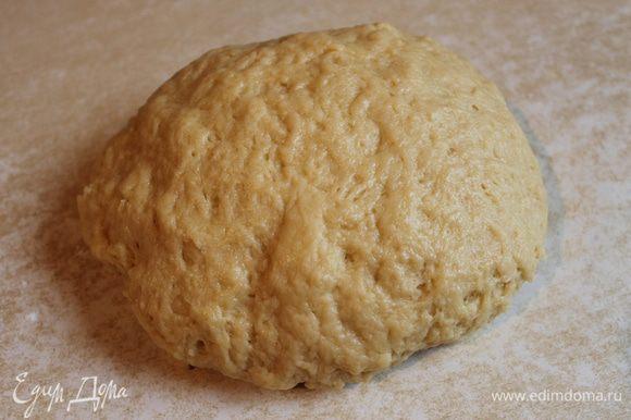..замешиваем тесто и сразу делим его на 3 части.