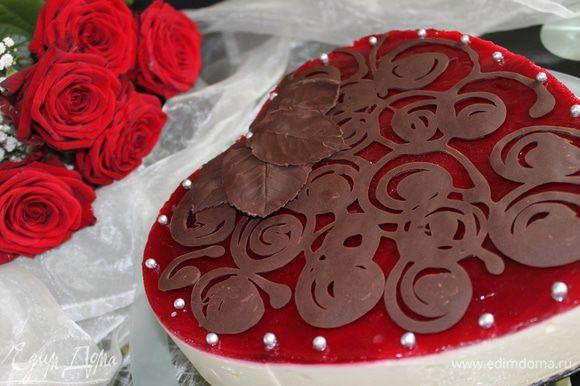 Я еще делала лепестки шоколадные, но я думаю это было уже лишнее...