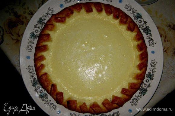 Пирог готов, можно его выкладывать, необходимо, чтобы он остыл перед употреблением.