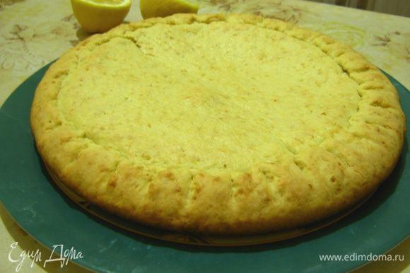 Пирог будет готов примерно через 30-35 минут.