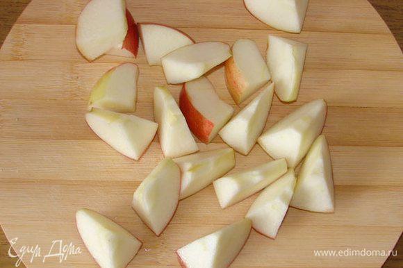 Яблоко порезать
