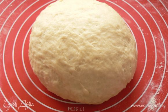 Замесить мягкое тесто. Муку добавлять постепенно, тесто должно быть мягким и нежным.