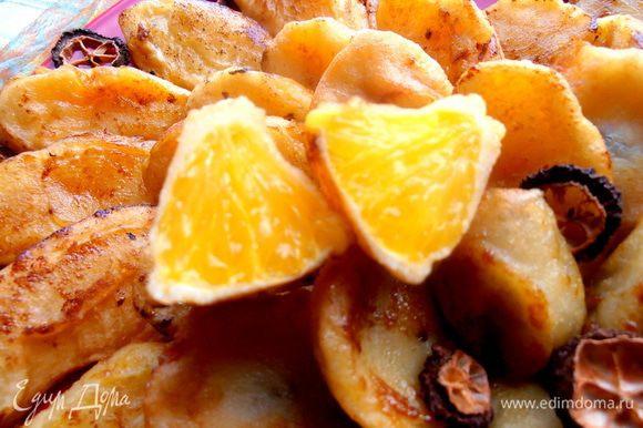 Как видите, апельсин не утратил своей сочности (в отличии от банана!), структура мякоти сохранилась... Удивите себя и своих близких)))