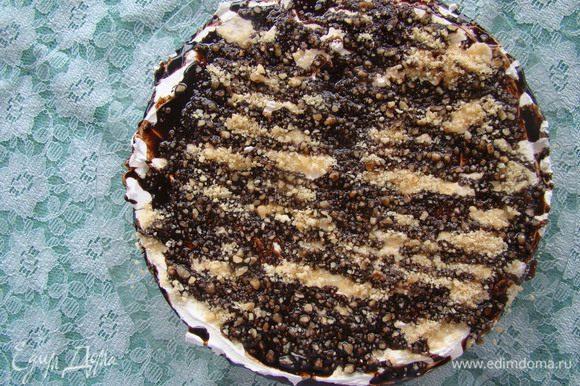 Сверху можно посыпать орешками и полить растопленным шоколадом. Приятного аппетита!