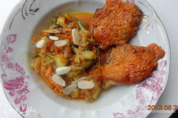 А к рагу подала замечательные куриные грудки от Торюшки: http://www.edimdoma.ru/retsepty/52078-zapechennye-kurinye-grudki МОлодцы остались довольны! Попробуйте и вы! Приятного аппетита!