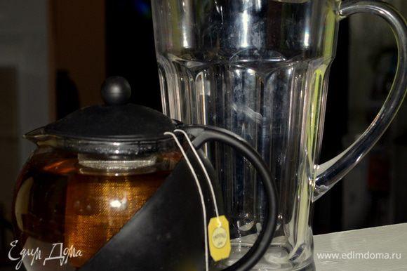 Заварим в чайнике чай на 1 литр и дадим ему полностью охладиться.