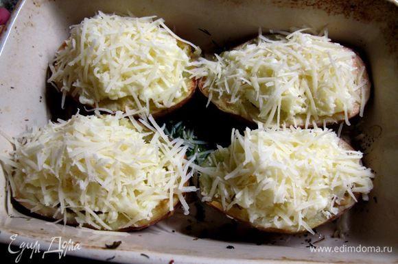 Посыпать сыром и зхапечь в духовке на сильном жару ещё 5 минут.