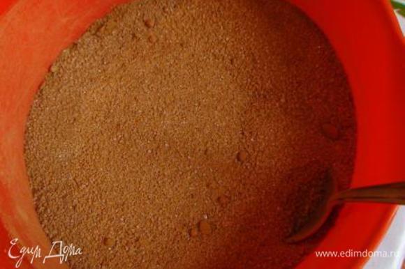 Смешать какао с сахаром и всыпать в сливовую массу. Проварить 10 мин.
