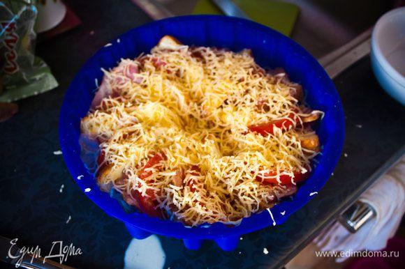 8) посыпьте всё тертым сыром