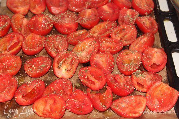 Посыпать солью, травами, сбрызнуть маслом и отправить в разогретую до 130 гр. С духовку на 3-4 часа.