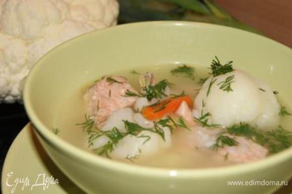 Готовый суп посыпать зеленью! Приятного аппетита!