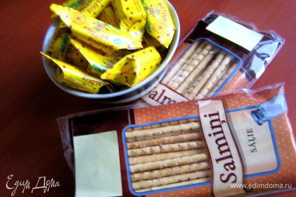Продукты... По-латышски salmini означает соломка! Я взяла даже солёную, так как сладкого здесь хватает))) Но Вы берите любую, можно с разными добавками (маком, сезамом).