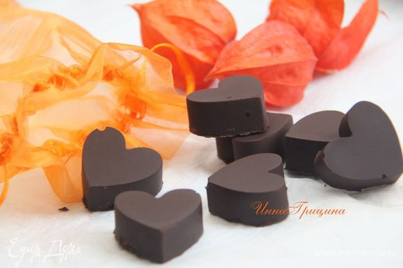 Вынуть конфеты из силиконовых ячеек. Хранить конфеты в холодильнике, не более недели.