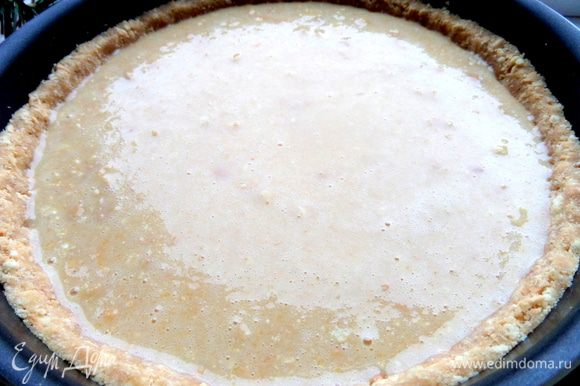 Пирог готов к запеканию.