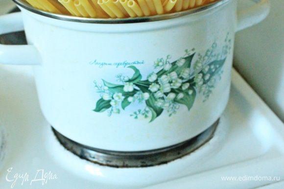 Также варим макароны Barilla Maccheroncini 8 минут.