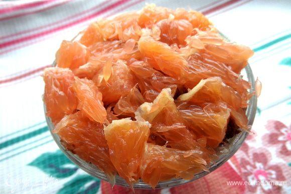 Завершаем слоем из апельсина! Если есть место в бокале.можно продолжить чередование слоёв.