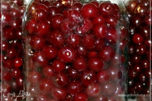 Засыпаем ягодки в банки. Вот так, вернее вот столько – для «дамской» консистенции.